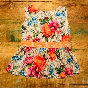 Persnickety | Floral Top, Girl's Size 8